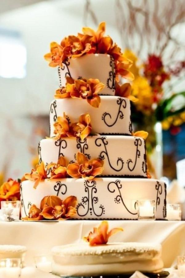 24 Ideen Fr Eine Torte Fr Hochzeit Mit Herbst Verzierung