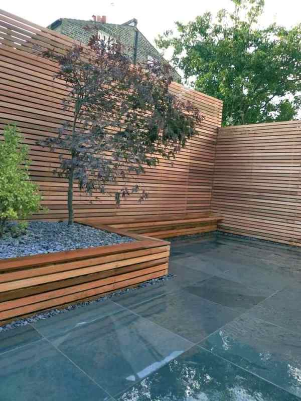 Gartengestaltung mit Holz 21 Ideen f252r ein nat252rliches Flair