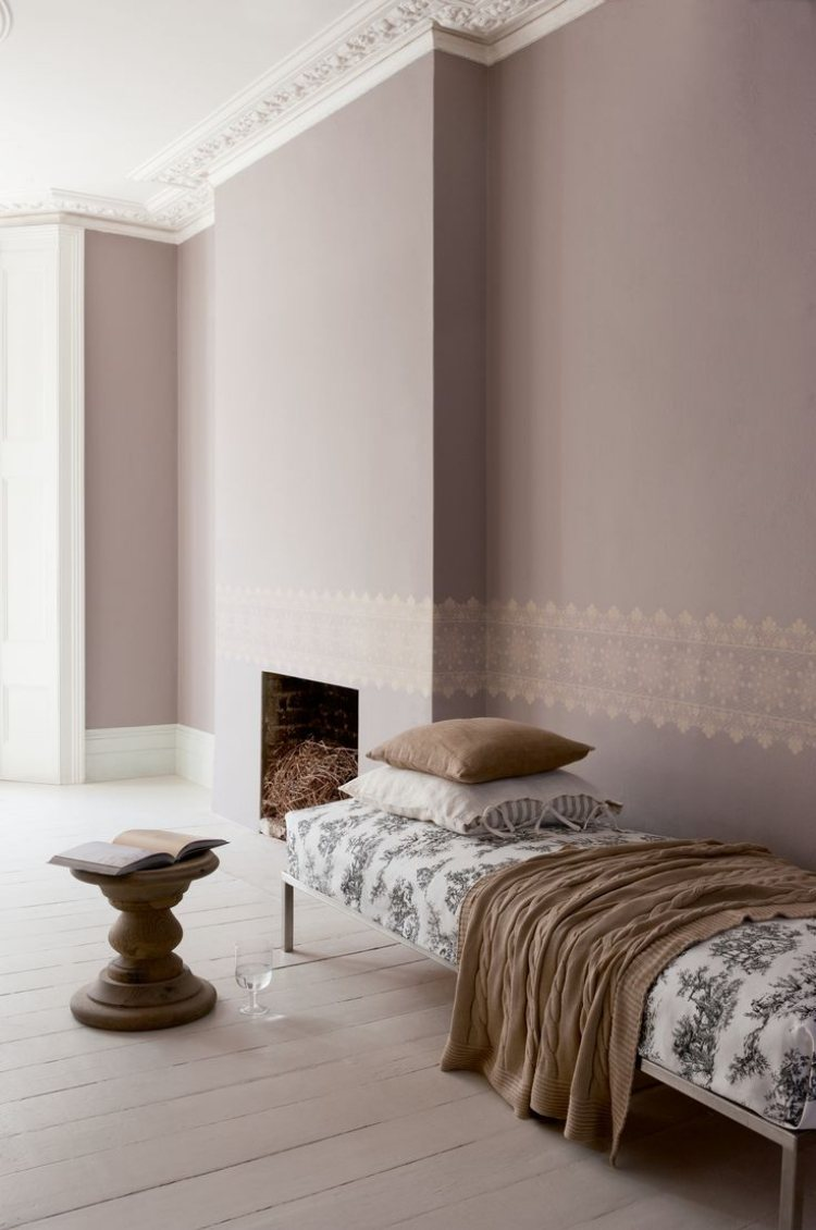 Taupe Wandfarbe Edle Kulisse Fr Mbel Und Accessoires