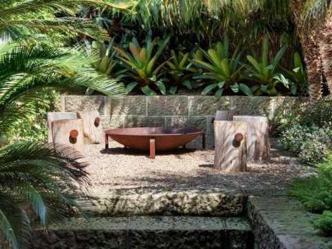 gartengestaltung mit sitzplatz sitzplatz mit feuerstelle im garten -  tipps und ideen