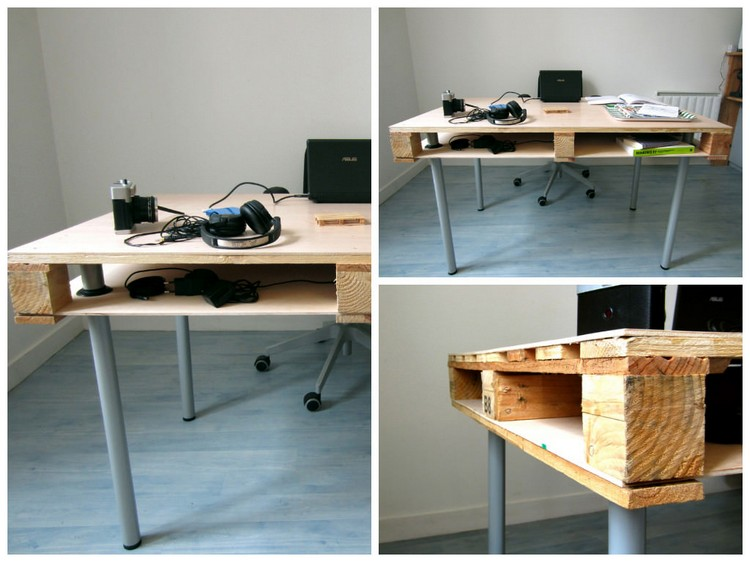 Schreibtisch Selber Bauen 29 Ideen Aus Holz Europaletten