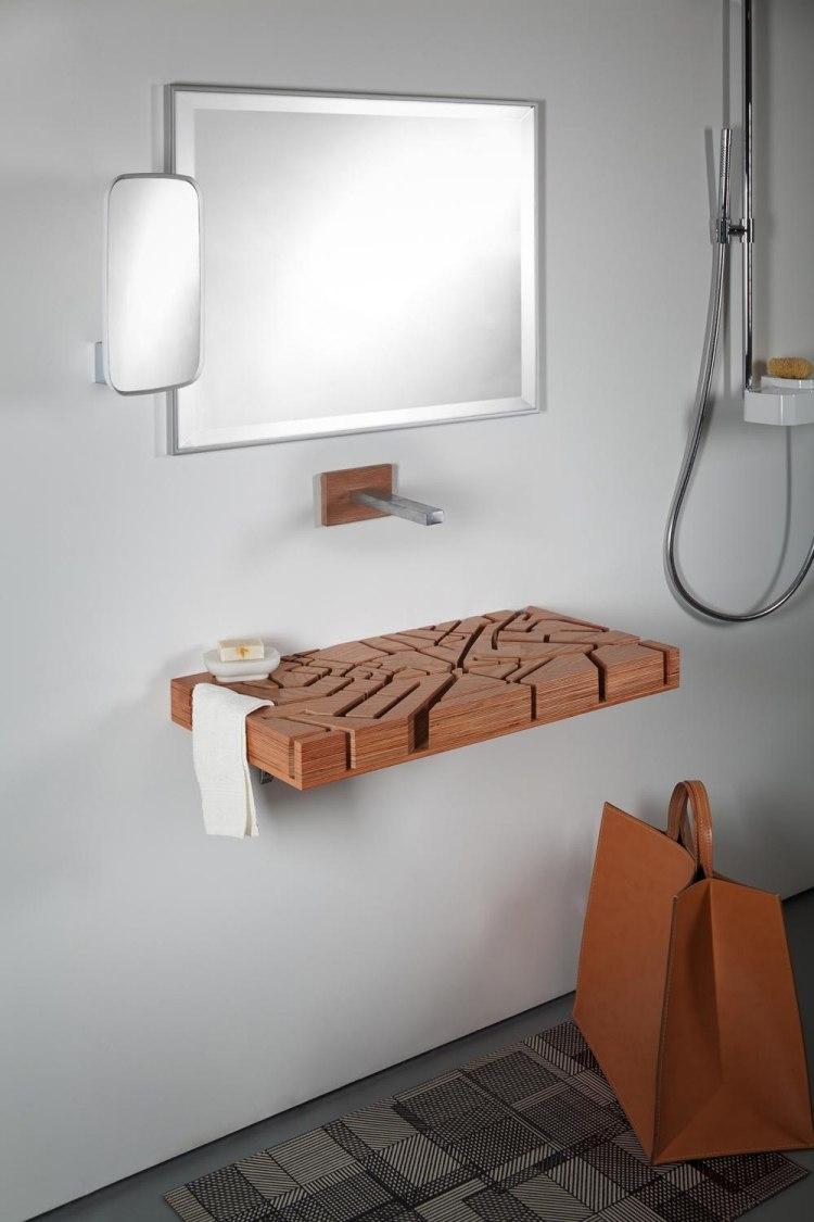 Design Waschbecken Aus Holz Als Stadtplan Von London