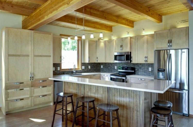 Kuche Im Landhausstil Modern Rustikal Holz Moebel
