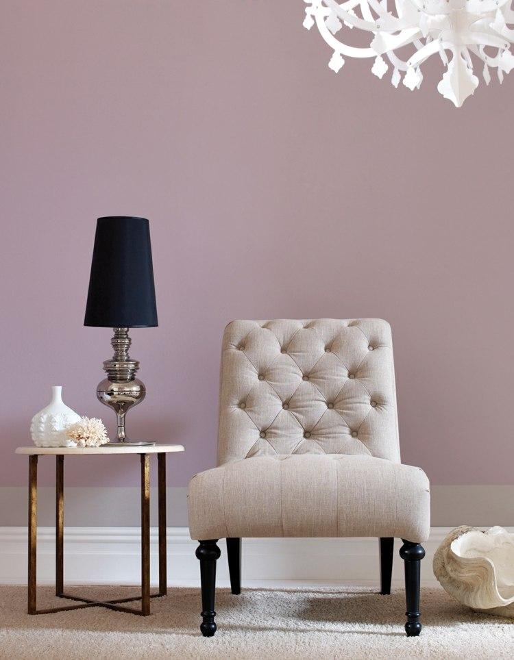 Farbe Mauve zur Raumgestaltung für romantisches Flair