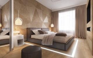 30 Ideen für moderne Schlafzimmergestaltung mit Lamellenwand
