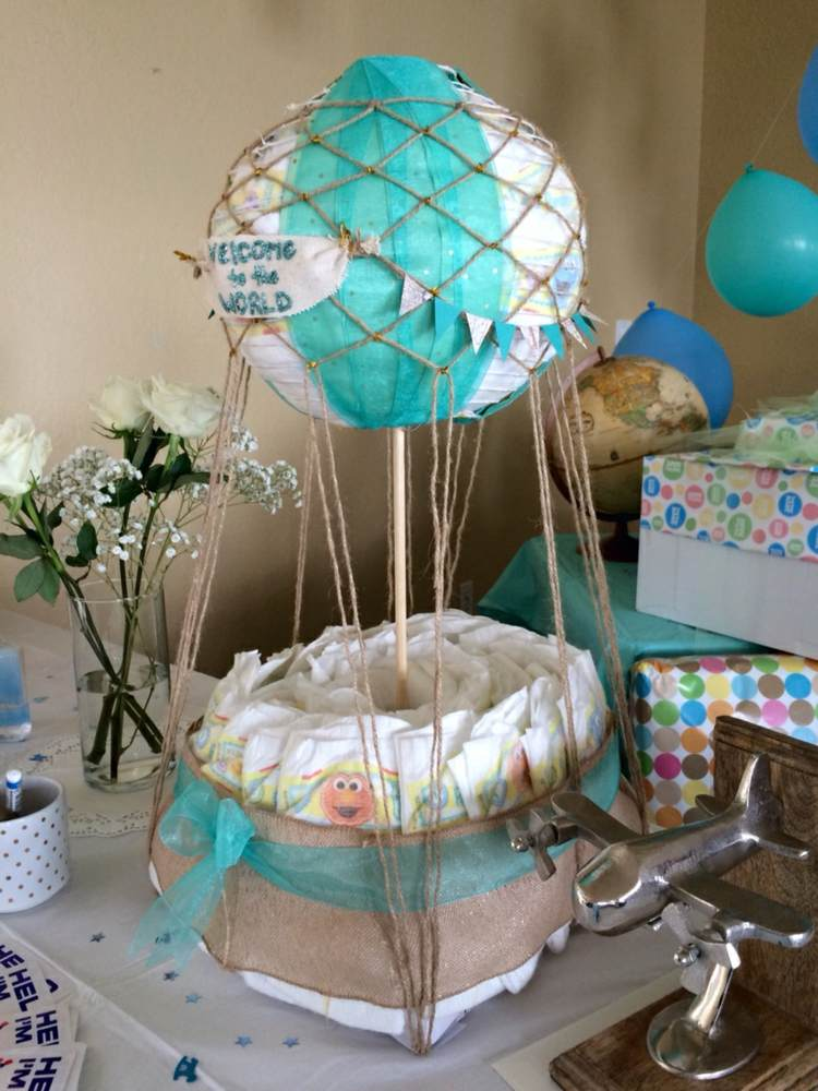 Safari Theme Baby Shower Centerpieces