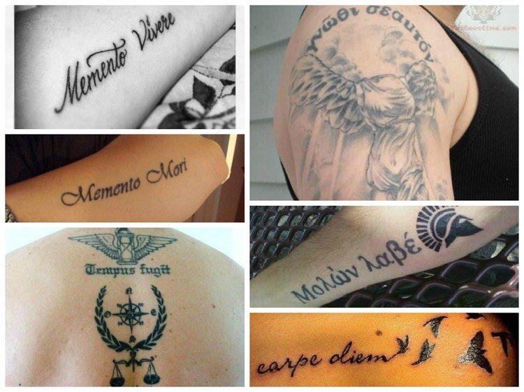 Vorschlage Fur Kurze Tattoo Spruche Auf Latein Und Griechisch Tattoo Ideen