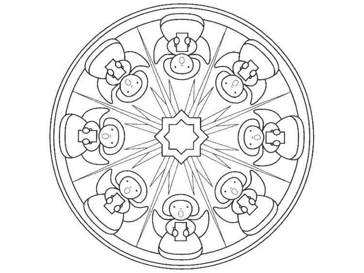 Mandala Engel Nadines Ausmalbilder 2 Malvorlagen Suchen