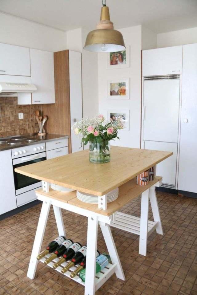 Praktische Ideen zum Selbermachen einer Kücheninsel aus Ikea Möbeln