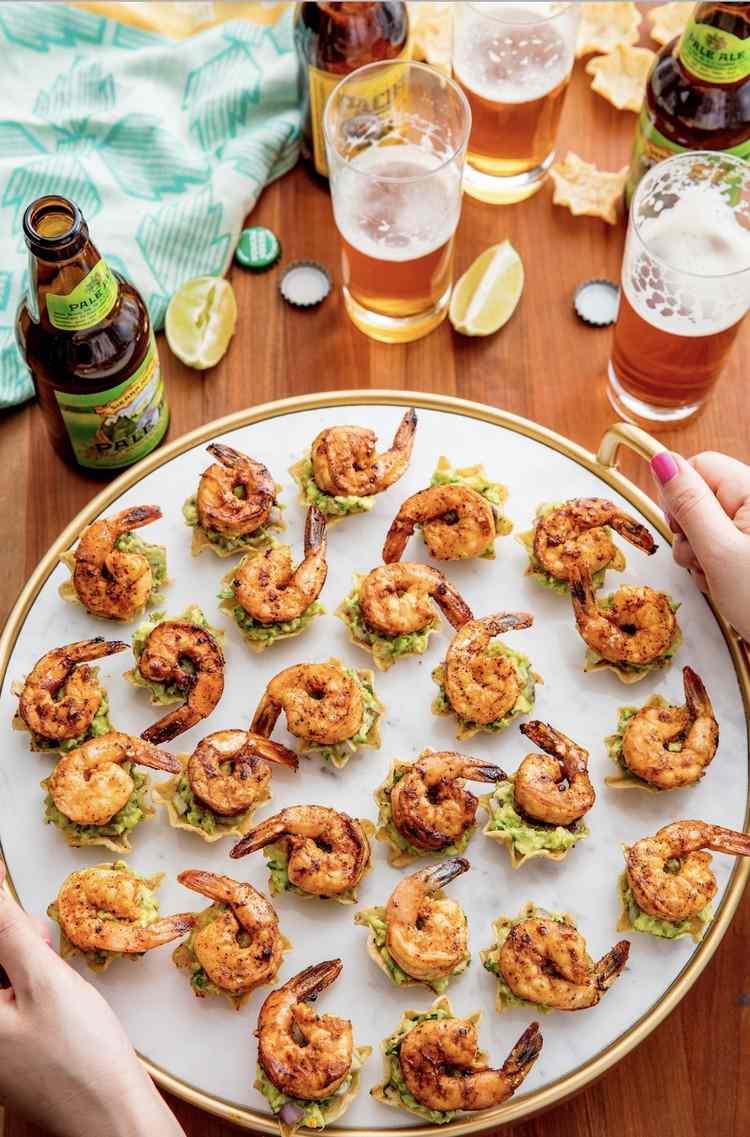 Prepare easy bites Serve shrimp recipe