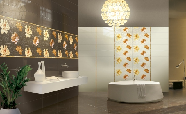 carrelage salle de bain a motifs design