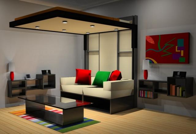 Lit Escamotable Plafond Pour Plus Despace En 19 Ides Top