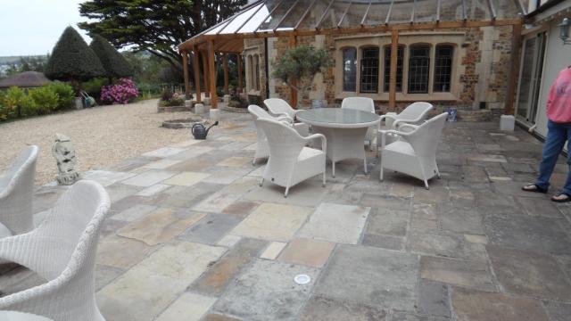 Jardin Terrasse Fantastique Beau Revtement De Sol Extrieur