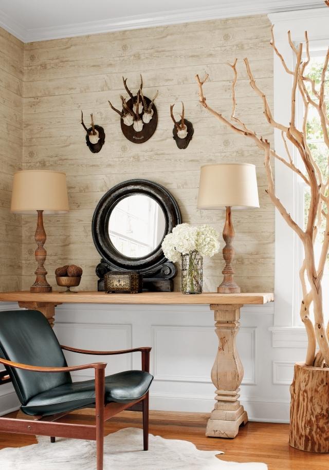 Papier Peint Chambre Daspect Bois 30 Ides Magnifiques