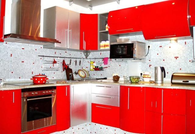 Cuisine Rouge Trs Originale Pleine Style 25 Ides Modernes