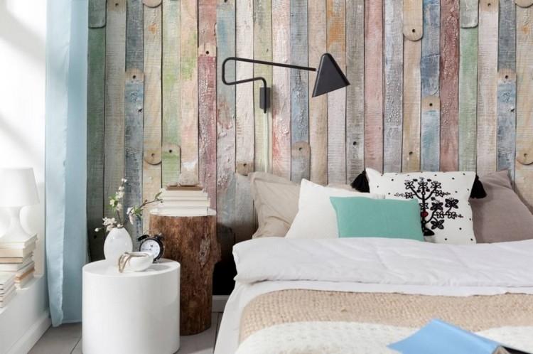 papier peint chambre d aspect bois 30
