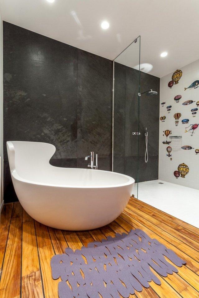 baignoire extraordinaire deco salle bains moderne
