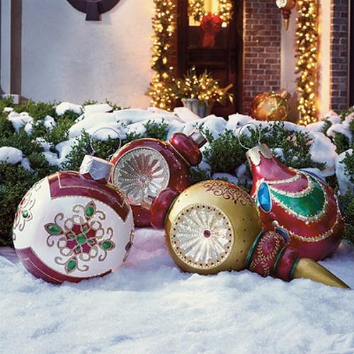 Decoration De Noel Exterieur Fait Main