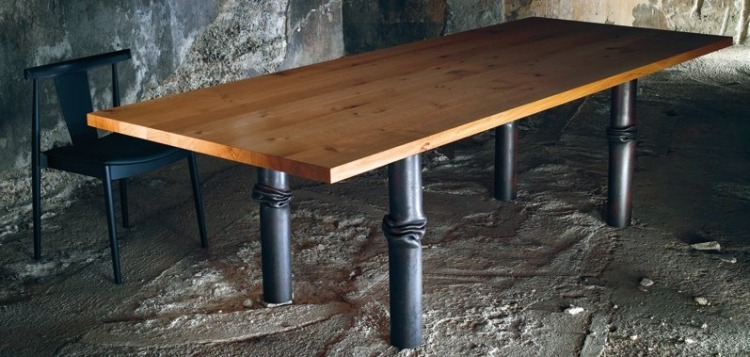 Table En Bois Massif Style Industriel Et Lgance Suisse