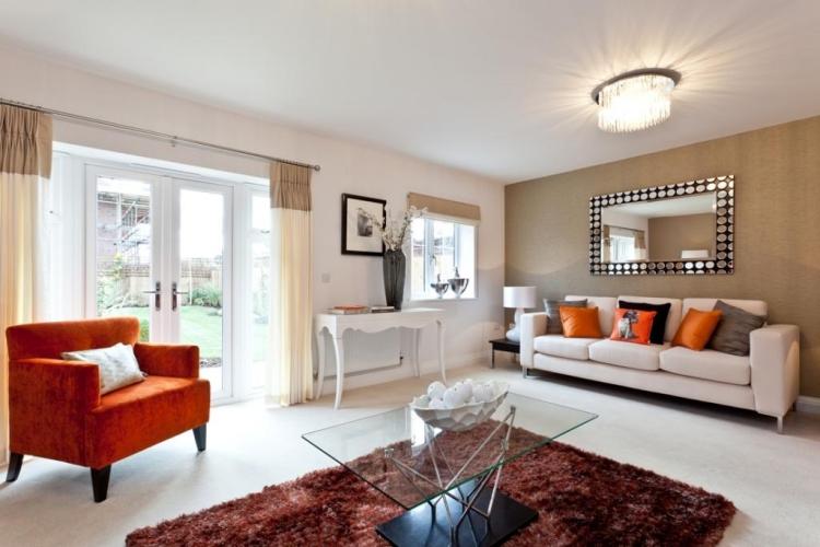 Orange home decor accents for Decoration murale wayfair