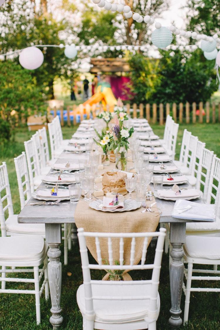 decoration table mariage rectangulaire de style champetre ou vintage deco de fete 8 20