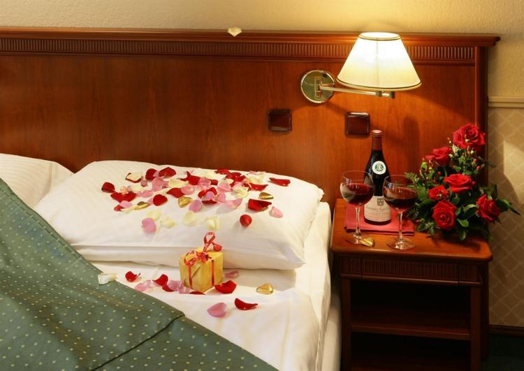 Dco Romantique Dans La Chambre Coucher Pour St Valentin