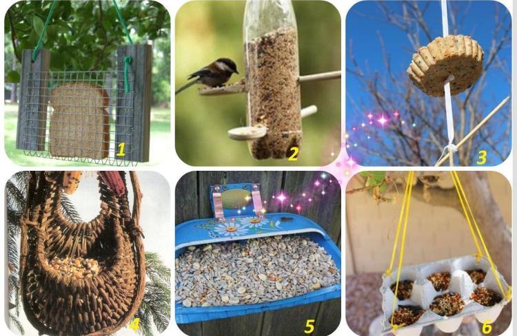 Mangeoire Oiseaux Dans Le Jardin 25 Ides Faciles Bricoler