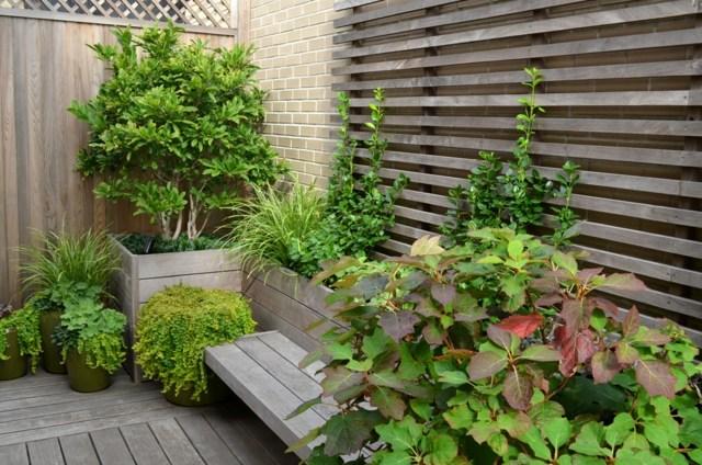 petit banc de jardin en bois pierre ou