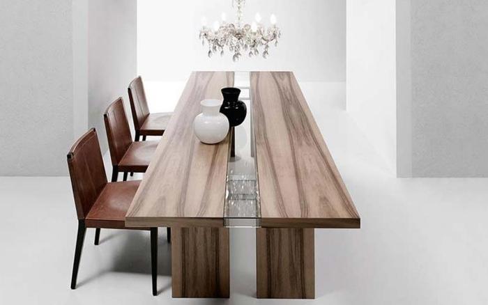 table de salle a manger bois massif ritz ennio arosio pour