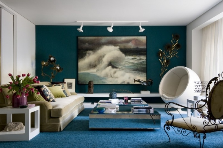 Awesome Mur Taupe Fascinant With Mur Bleu Ptrole
