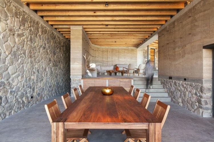 Maison Cologique Design En Pierre Naturelle Et Bois Recycl