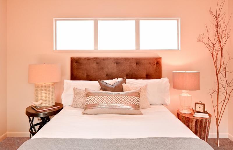 couleur peinture chambre nuance rose lampes chevet abat