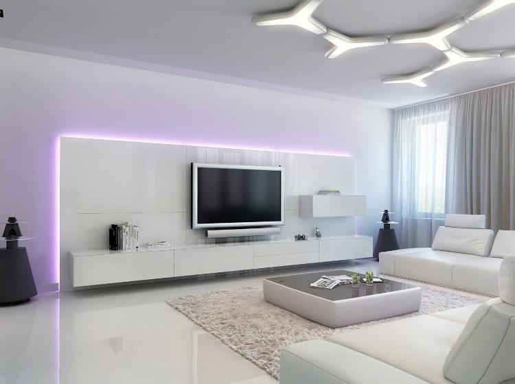 deco salon blanc pour une atmosphere