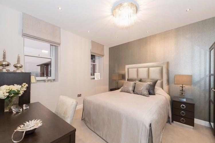 chambre beige grise meubles couleur wenge