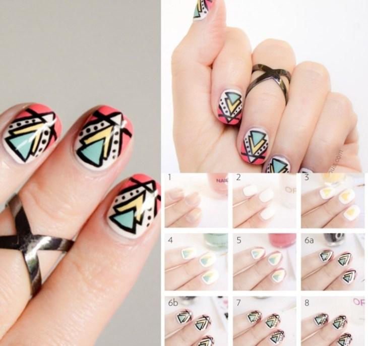 nail-art-motif-azteque-etape-par-etape