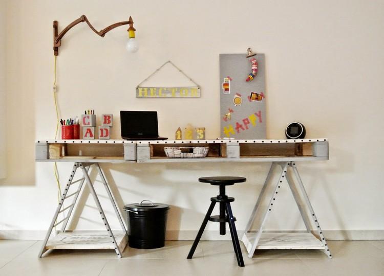 Bureau En Bois 34 Ides DIY Trs Cool En Palette Europe
