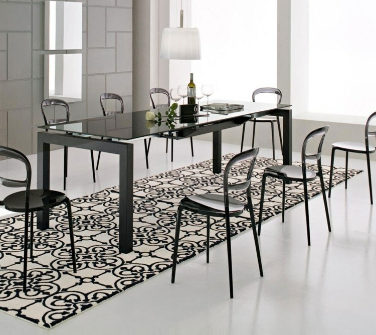 tapis salle a manger 50 idees pour