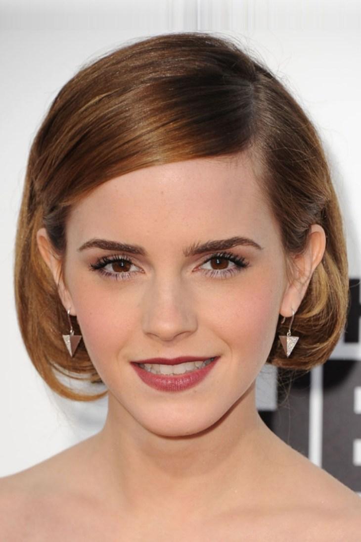 comment-bien maquiller automne rouge lèvres merlot Emma Watson