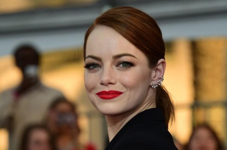 comment-bien se maquiller automne stars lèvres rouges chic Emma Stone