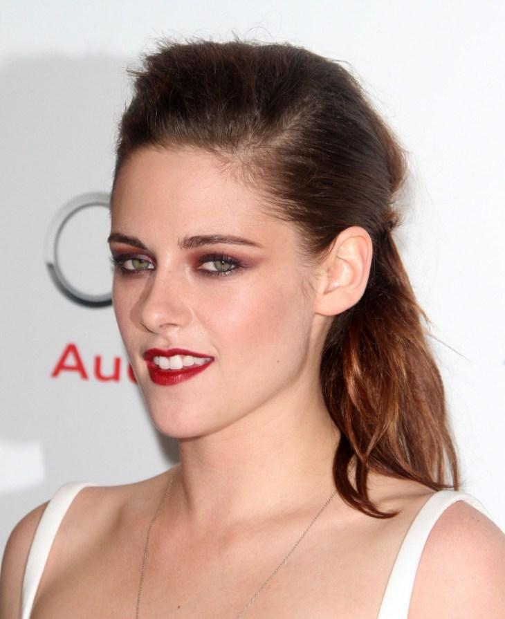 comment se maquiller stars Kristen Stewart rouge lèvres écarlate