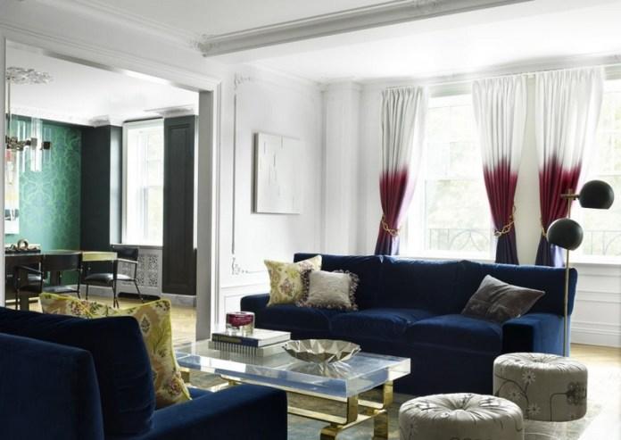 décoration de salon rideaux magnifiques dégradé blanc-bourgogne