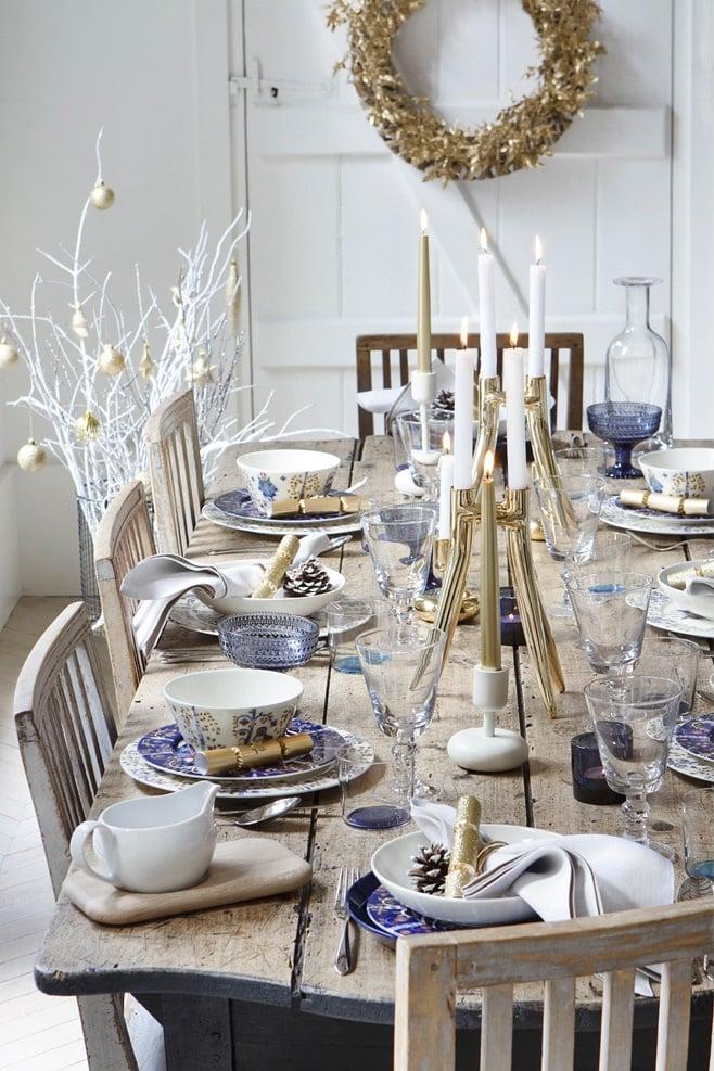 Dco Table Nol Argent Le Glamour Chic La Table Festive
