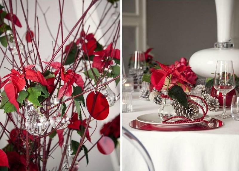 elegant gallery of dco table nol rouge et blanc ides qui unifient le moderne et le decoration de with decoration table de noel rouge et blanc with dco table