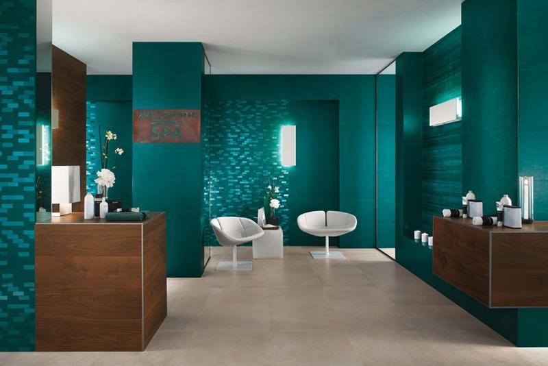 mosaique salle de bain verte et idees