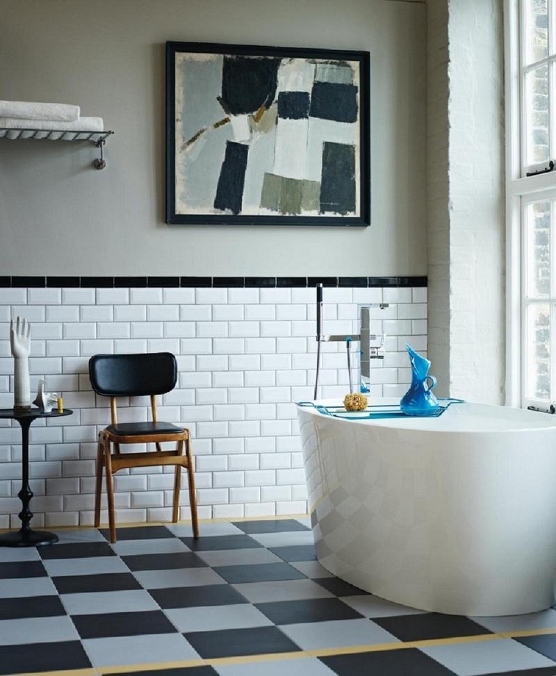 salle de bain retro carrelage