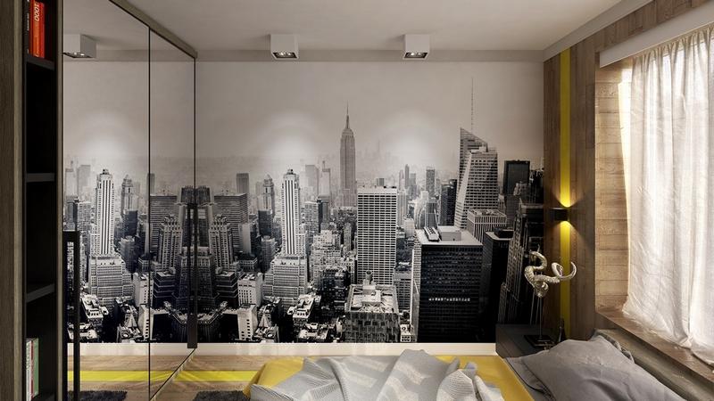Chambre Style New York Ides Thme Londres Et Voyages