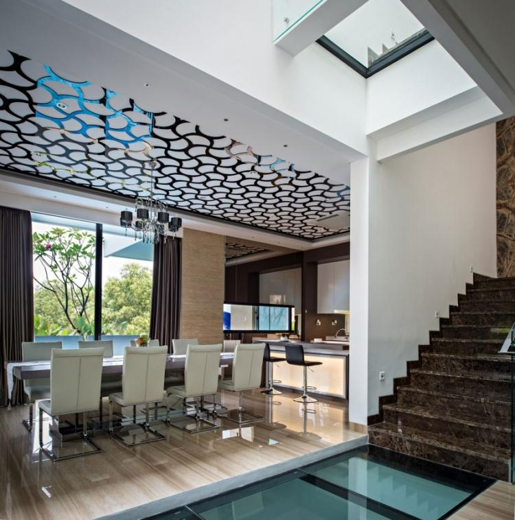 Faux Plafond Design Et Sol Carrel Dans Une Maison Design