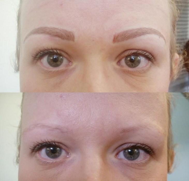 maquillage permanent sourcils poil par poil avant-après