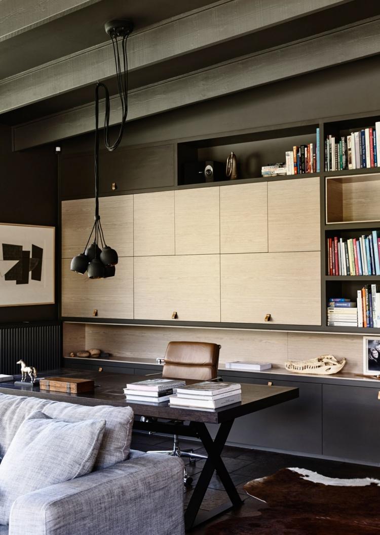 Lambris Bois Large Gris Anthracite Dans Une Maison Design