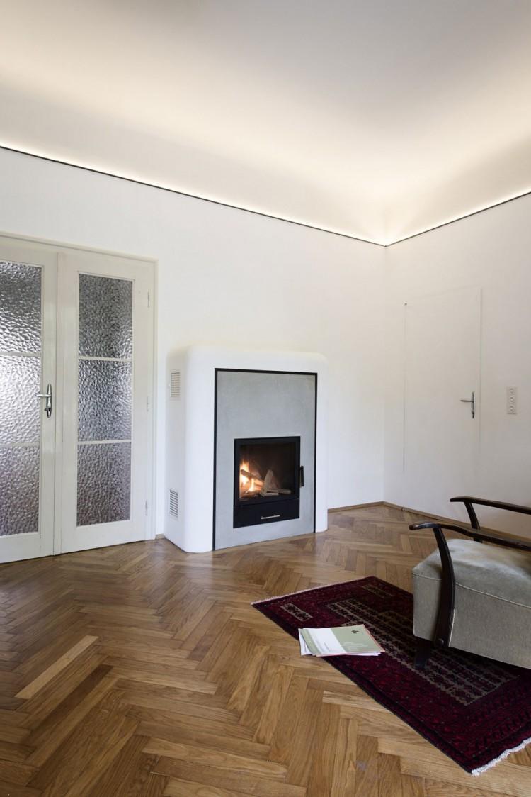 Parquet Chevron Et Cuisine Bois Et Blanc Dans Un Appartement